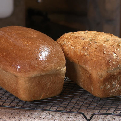 2 loaves of wheat bread